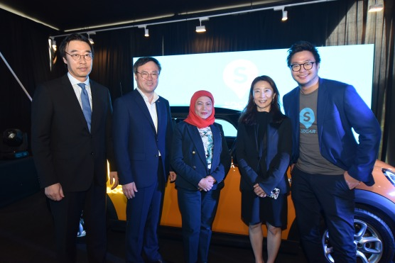 H.E.Dr Yu Hyun-Seok,Ambassador of the Republic of Korea to Malaysia, Mr.Jang Dong-Hyun, CEO of SK Holdings, Y.B.Dato' Sri Hajah Nancy Shukri; Minister in the Prime Minister's Department,
