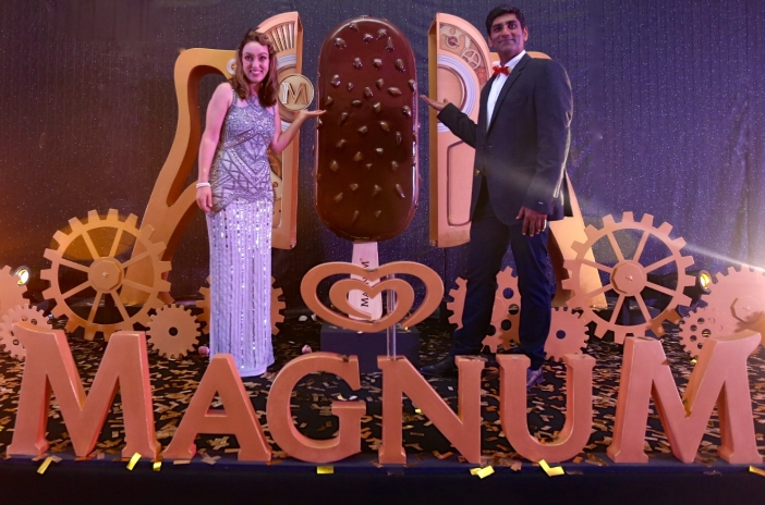 (From left) Annemarieke de Haan, General Manager of Unilever Malaysia and Singapore, and Shiv Sahgal, Marketing Director of Foods and Refreshment, Unilever Malaysia, with the new Magnum