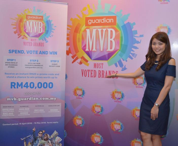 Ms Shirley Ham, Senior Manager, Digital Marketing (E-Commerce) of Guardian Malaysia posing for the media at Guardian Malaysia's Most Voted Brands Award media briefing