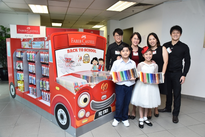 Group Photo at the Official Launch of Faber-Castell Back-to-School Bus