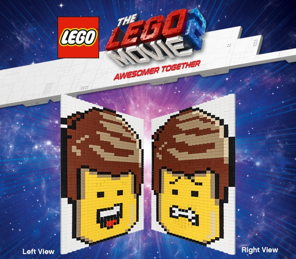 The LEGO Movie 2 Event (3) - Lenticular Emmet Mosaic