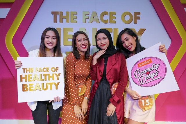 Four finalists from the central region. (From left) Karyll Chee, Alwizah Al Yafii, Nurul Ezzaty, and Nur Aimi