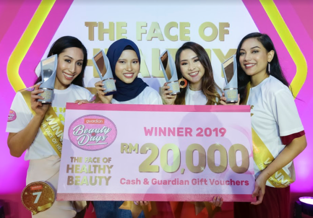 Their lives will not be the same again! From left - Nur Aimi Abdul Ghani, Nurul Ezzaty Hasbullah, Karyll Chee and Yasmin Khalid were crowned as Guardian's Face of Healthy Beauty