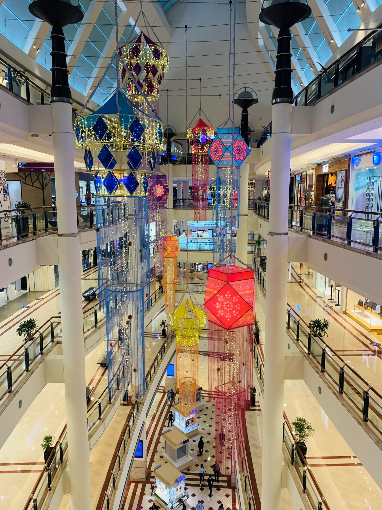 Beautiful Deepavali Hoist at Suria KLCC