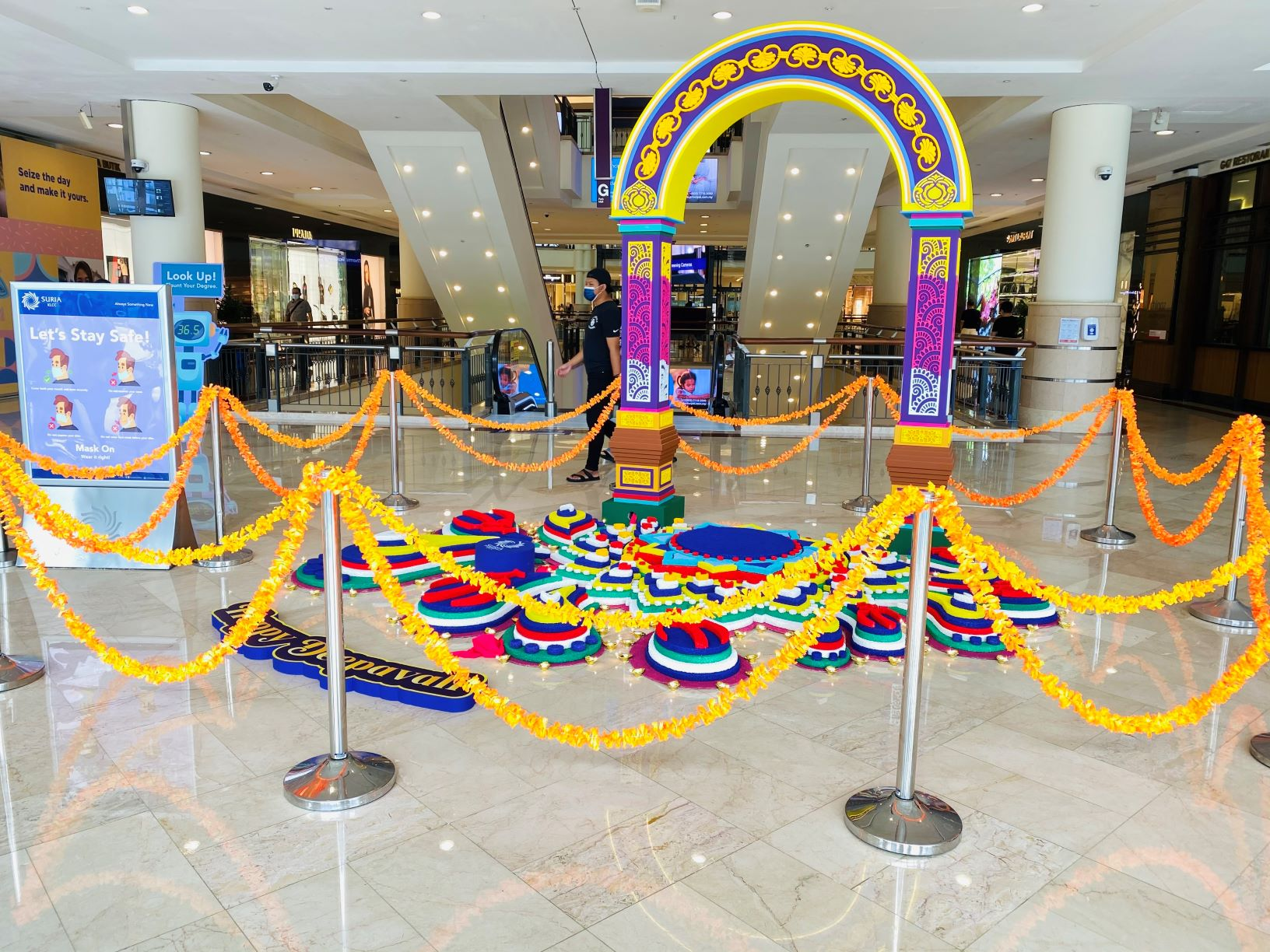 Beautiful Deepavali Kolam at Suria KLCC