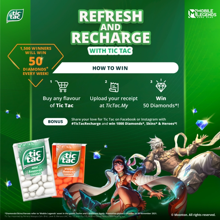 Key Visual (2) - Refresh & Recharge Campaign (Tic Tac x Mobile Legends)